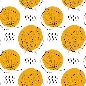 Autum leave pattern background