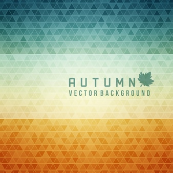Autumn abstract geometric triangles  background