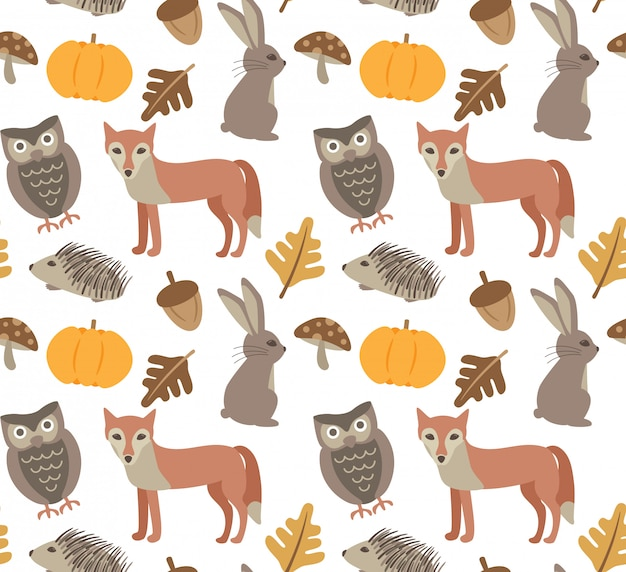 Autumn animal background