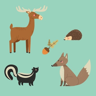 Осенняя коллекция животных
