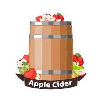 Autumn apple cider barrel