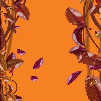 秋の背景デザイン