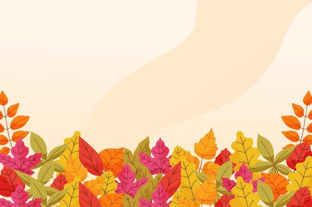 Autumn background in flat design