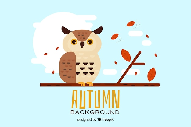 Autumn background in flat style