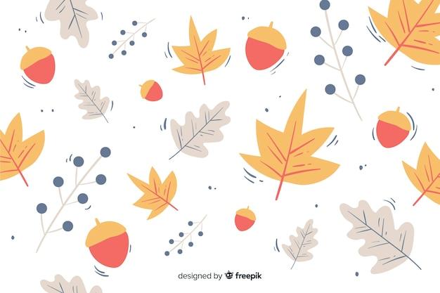 Autumn background hand drawn style