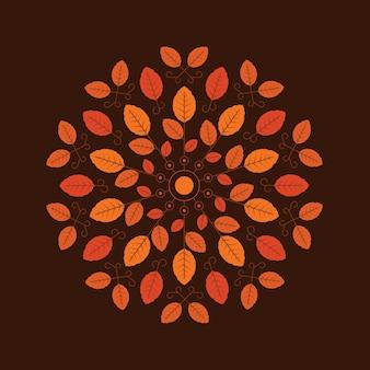 Autumn background illustration in flat style