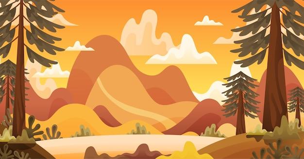 Осенний фон иллюстрация