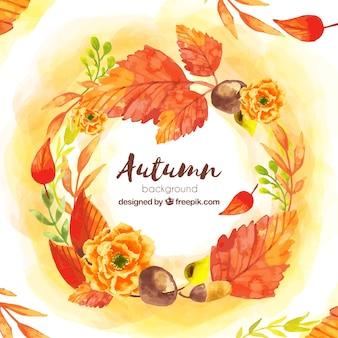 水色の秋の背景