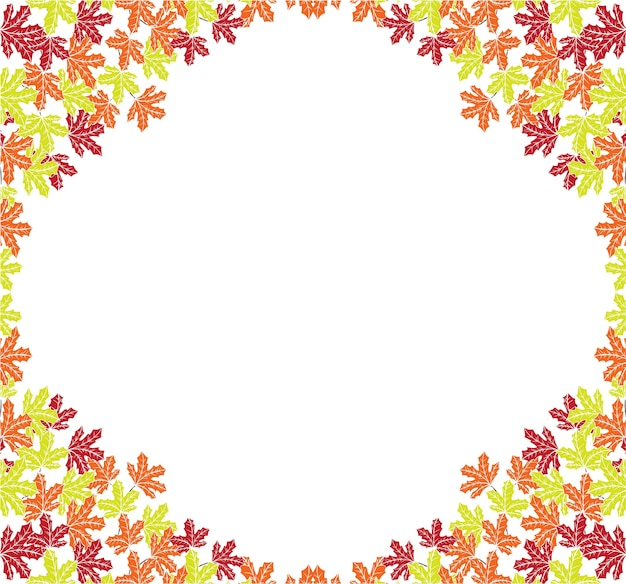 Autumn background layout frame with falling leaves