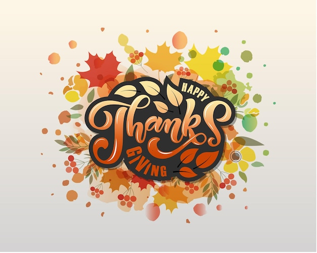 Autumn background poster paper cut background for postcard thanksgiving icon logo or badge