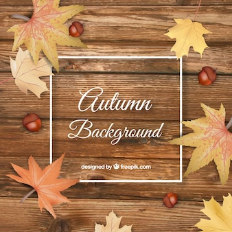 Autumn background in realistic style