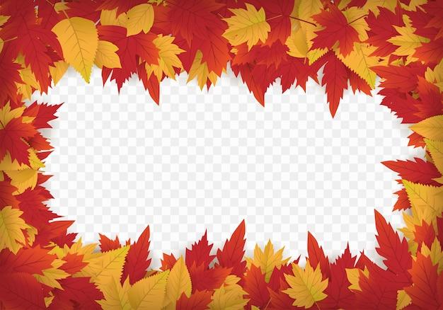 Осенний шаблон для фона с кленовыми листьями