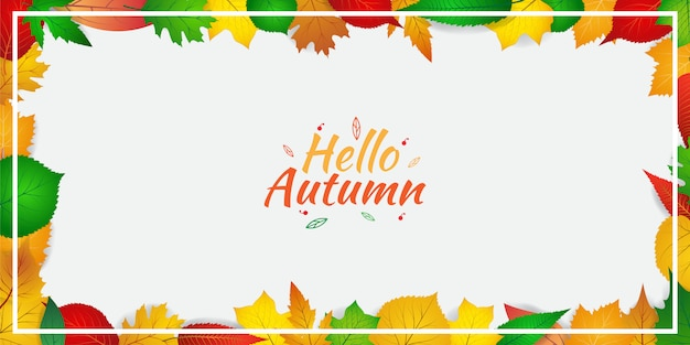 Autumn background template