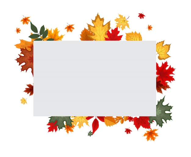 Autumn background with blank banner