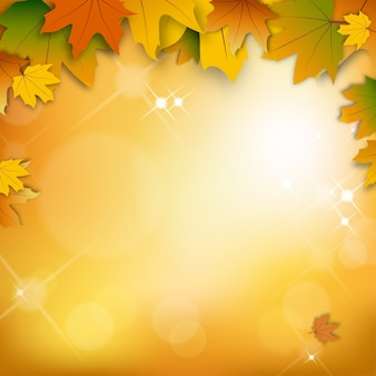 Autumn background with bokeh effect