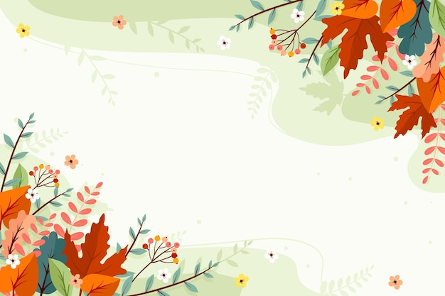 Autumn background with empty space