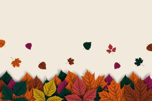떨어지는 단풍과 가을 배경
