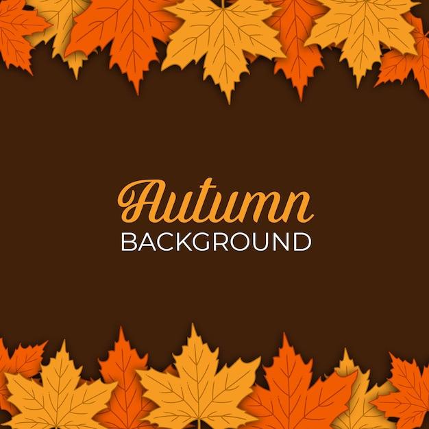 Осенний фон с дизайном падающих листьев