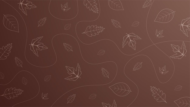 Autumn background with leaves Premium Vector
