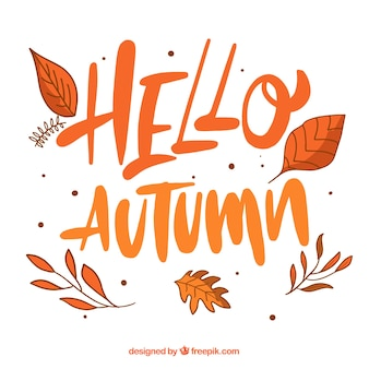 Autumn background with message and typography