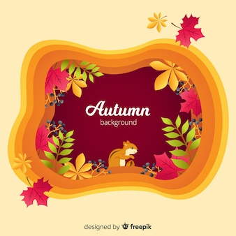Autumn background with pretty leaves