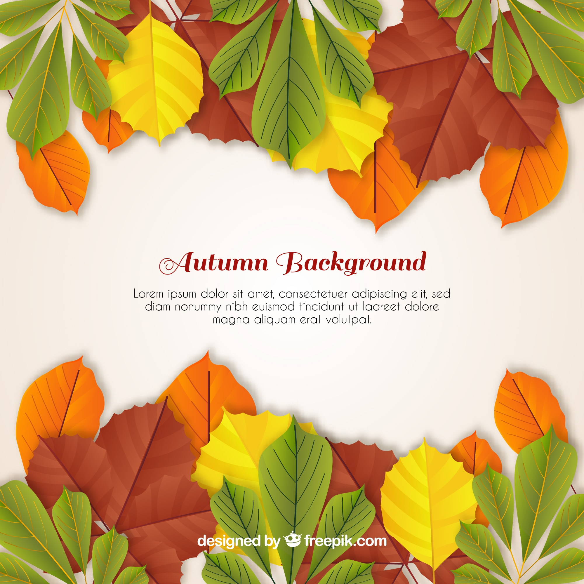 Autumn background with realistic design