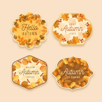 Autumn badge collection