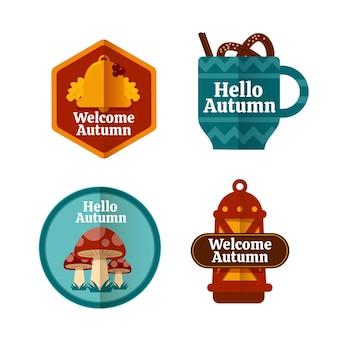 Autumn badge pack