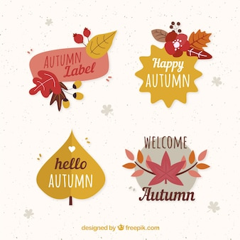 Autumn badges collection