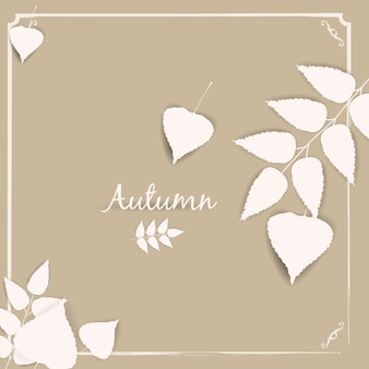 Осенний баннер фон с листьями бумаги падения, temlate, вектор, иллюстрация, изолированные