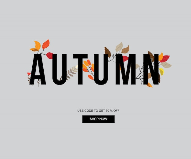 Autumn banner, sale and discount banner ,automn element and web template.