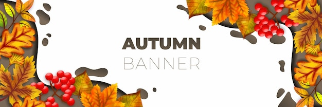 Autumn banner vector illustration background