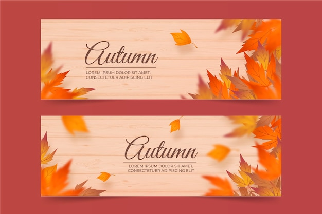 Autumn banners template
