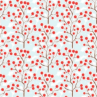 Autumn berry pattern. autumn seamless background for textile fabric design.