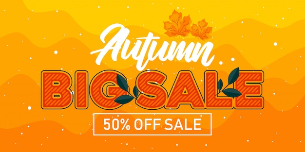 Autumn big sale banner
