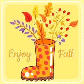 Autumn boot background