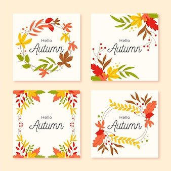 Autumn card collection template