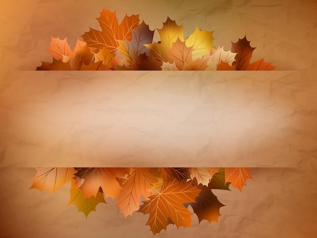 Осенняя открытка из цветных листьев.