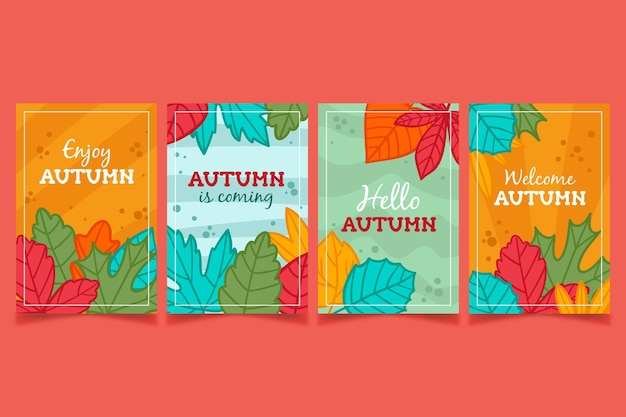 Осенний набор карт