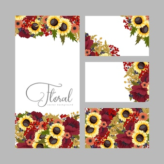 Autumn card template