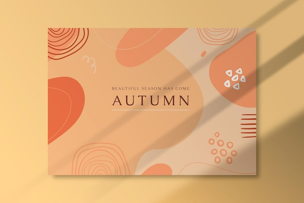Autumn card with organic shapes