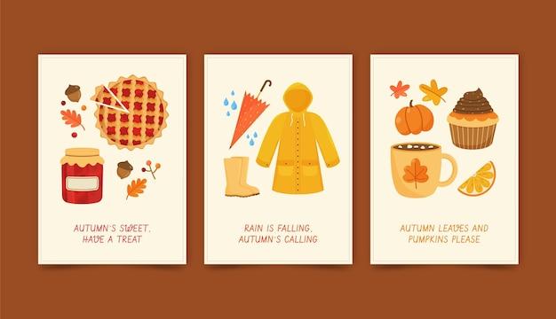 가을 카드 컬렉션