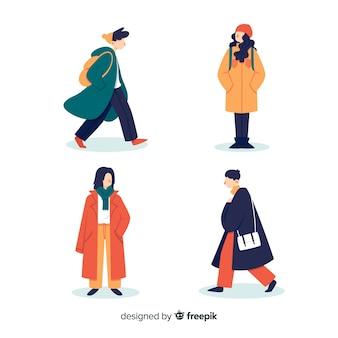 Autumn clothes collection concept