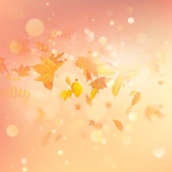 カエデの葉の秋の組成物。ベクター