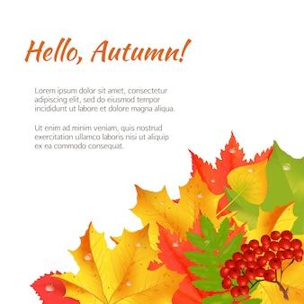 Autumn congratulation banner.