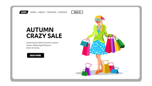 Autumn crazy sale discount or black friday
