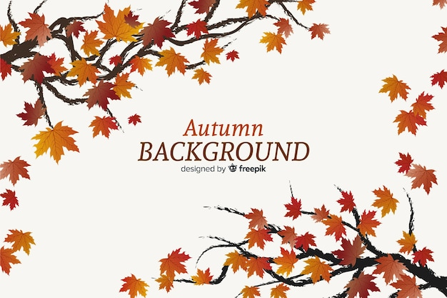 Autumn decorative background flat design