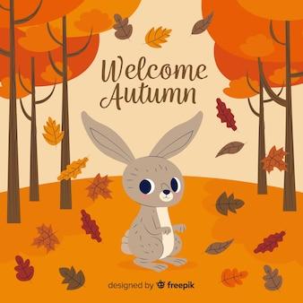 Autumn decorative background flat style