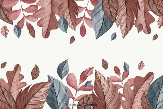 Autumn decorative background watercolor style