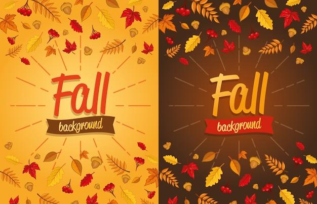 Осенний дизайн с листьями
